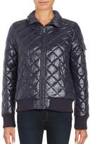French Connection Women's Quilted Zip-Front Coat