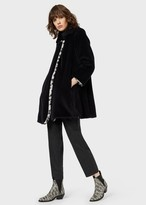 Emporio Armani Reversible Faux-Fur Coat With Leopard-Print On One Side