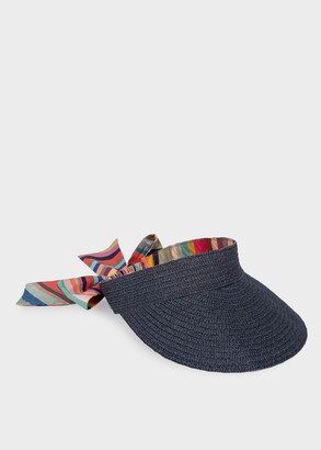 Paul Smith Women's Slate Blue 'Swirl' Woven Visor