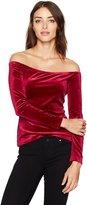 GUESS Women's Long Sleeve Dianna Off Shoulder Top