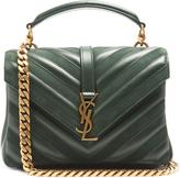 Saint Laurent Collège medium leather and suede shoulder bag