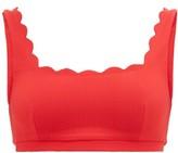Marysia Swim Palm Springs Scalloped-edge Bikini Top - Womens - Red