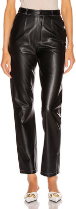 ZEYNEP ARCAY Leather Cigarette Pant in Black | FWRD