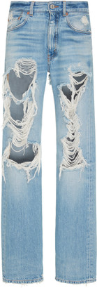 Givenchy Straight-Leg Distressed Jeans