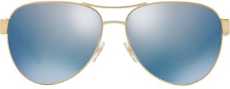 Tory Burch Aviator Shaped Sunglasses