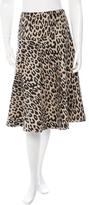 Loeffler Randall Leopard Patterned Skirt