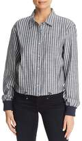 Kenneth Cole Chambray Boxy Button-Down Top