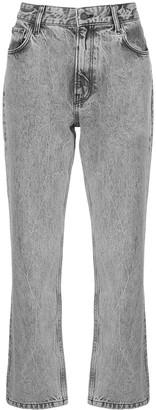 Anine Bing Etta high-rise straight jeans