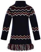 Moncler Abito Tricot Wool-Cashmere Knit Dress, Size 4-6