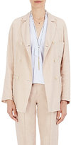 Isabel Marant Women's Nessa Linen-Blend Double-Breasted Blazer-LIGHT PINK
