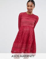 Asos Premium Lace Skater Dress