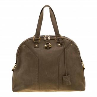 Saint Laurent Muse Khaki Suede Handbags