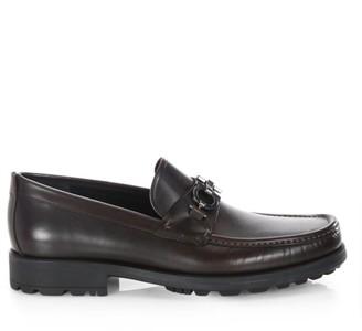 Salvatore Ferragamo David Gancini Bit Leather Loafers