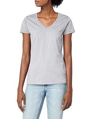 Fruit of the Loom Women's V-Neck Valueweight T-Shirt,12 (Manufacturer Size:)