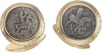 Jorge Adeler Men's Ancient Azes II Coin 18K Gold Cufflinks