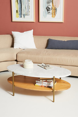 Anthropologie Maya Tiered Coffee Table By in White Size ALL