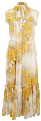 Zimmermann Botanica wattle midi dress