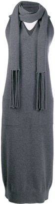 Salvatore Ferragamo scarf detail knit dress