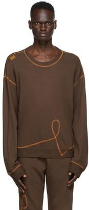 Phlemuns Brown Logo Sweatshirt