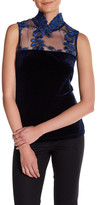 Romeo & Juliet Couture Smock Neck Sleeveless Blouse