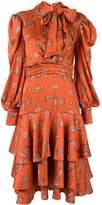 Johanna Ortiz A Typical Tropics Tiered midi dress