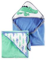 Carter's 2-Pack Alligator Hooded Towels