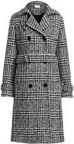 Akris Punto Glen Check Stretch Wool Trench Coat