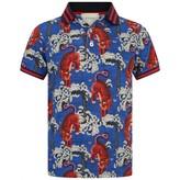 Gucci GUCCIBoys Blue Tiger Print Polo Top