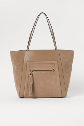 H&M Suede-detail Shopper - Beige