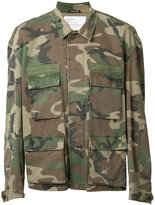 R 13 camouflage military jacket