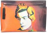 Loewe photographic print zip clutch - men - Leather - One Size