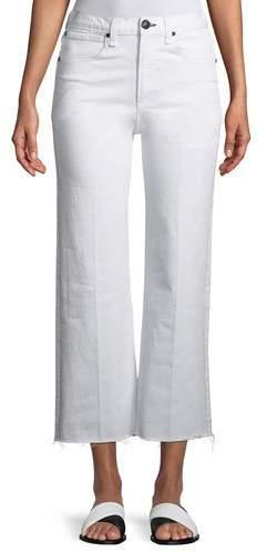 Rag & Bone Justine High-Rise Wide-Leg Ankle Jeans w/ Released Hem