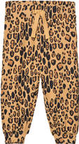 Mini Rodini Beige Leopard Sweatpants