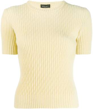 Roberto Collina ribbed knitted top
