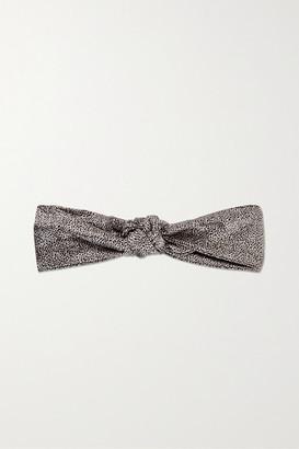 Slip Knot Leopard-print Silk Headband - Leopard print