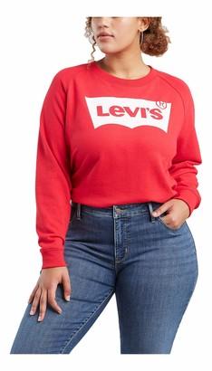 Levi's Women's Plus-Size Relaxed Graphic Crew Sweatshirt