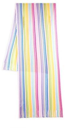 Missoni Chevron-Knit Fringed Scarf