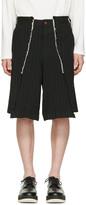 Comme des Garcons Black Pinstripe Shorts