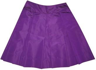Prada Purple Silk Skirts