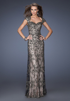 La Femme 19274 Intricate Lace Beaded Evening Gown