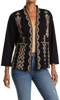 Johnny Was Tracy Embroidered Cardigan