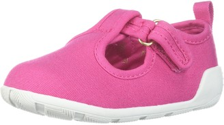 Baby Deer Girls' Canvas t Strap Mary Jane Flat
