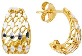 Primavera 24k Gold Over Sterling Silver Doorknocker Earrings