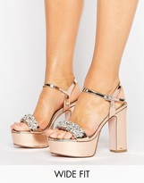 Asos HONEY POT Wide Fit Embellished Platforms