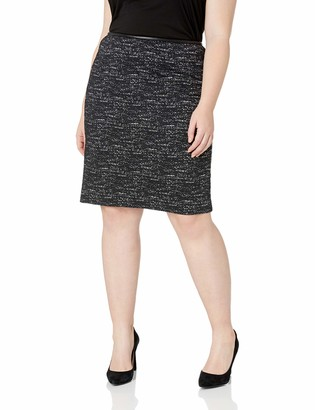 Calvin Klein Women's Plus Size Ponte Printed Skirt