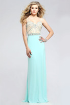 Faviana Astonishing Sweetheart Jersey Gown with Rhinestones 7782