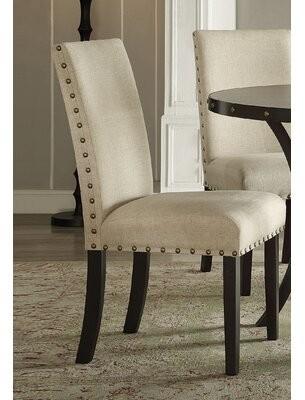Gracie Oaks Bezu Fabric Parsons Chair