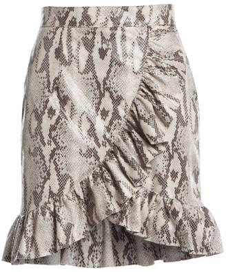 MSGM Python Ruffle Skirt