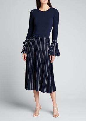 Jonathan Simkhai Raelynn Pleated Midi Skirt