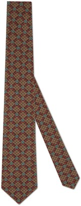 Gucci GG diamond print viscose tie